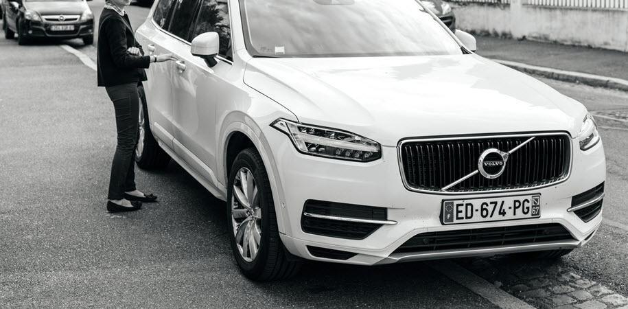 Volvo Car on Road