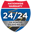24 Months / 24,000 Miles Nationwide Warranty