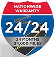 24 Months / 24,000 Miles Nationwide Warranty