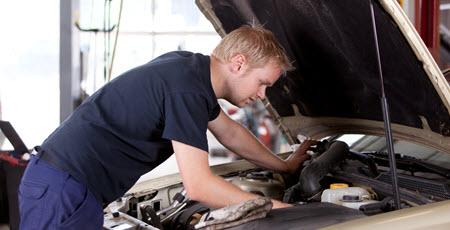 Mechanic Fixing Volvo Cooling Fan